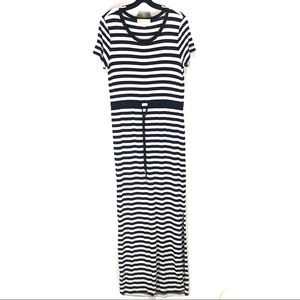 NWOT Micheal Kors stripe maxi dress S